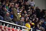 Middlesbrough 1 Preston North End 1, 22/01/2011. Riverside Stadium, Championship. Preston North End supporters watching their team from the South Stand at the Riverside Stadium during their team's away match at Middlesbrough in an Npower Championship fixture. The match ended in a one-all draw watched by a crowd of 16,157. Middlesbrough relocated from their former home at Ayresome Park in 1995. Photo by Colin McPherson.