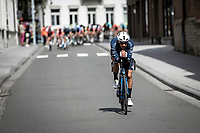 Team Canyon DHB rider trying to escape the peloton. <br /> <br /> GP Marcel Kint 2019<br /> One Day Race: Kortrijk – Zwevegem 188.10km. (UCI 1.1)<br /> Bingoal Cycling Cup 2019