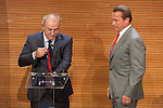 Austrian former actor and politician Arnold Schwarzenegger receives the `Madrid Destino´ ambassador medal at Cibeles Palace in Madrid, Spain. September 26, 2014. (ALTERPHOTOS/Victor Blanco)