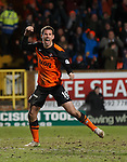 Ryan McGowan scores to equalise for Dundee Utd and celebrates