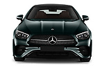 Car photography straight front view of a 2021 Mercedes Benz E-Class AMG-Line 2 Door Coupe Front View