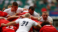 10th July 2021; Twickenham, London, England; International Rugby Union England versus Canada; Genge and Jamie Blamire of England popping out of a turned scrum with Sam Underhill of England looking on