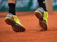 Paris, France, 23 june, 2016, Tennis, Roland Garros, The shoes of Stan Wawrinka (SUI)<br /> Photo: Henk Koster/tennisimages.com