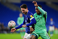 Sean Morrison of Cardiff City vies for possession with Aaron Hayden of Carlisle United during the FA Cup third round match between Cardiff City and Carlisle United at the Cardiff City Stadium in Cardiff, Wales, UK. Saturday 04 January 2020