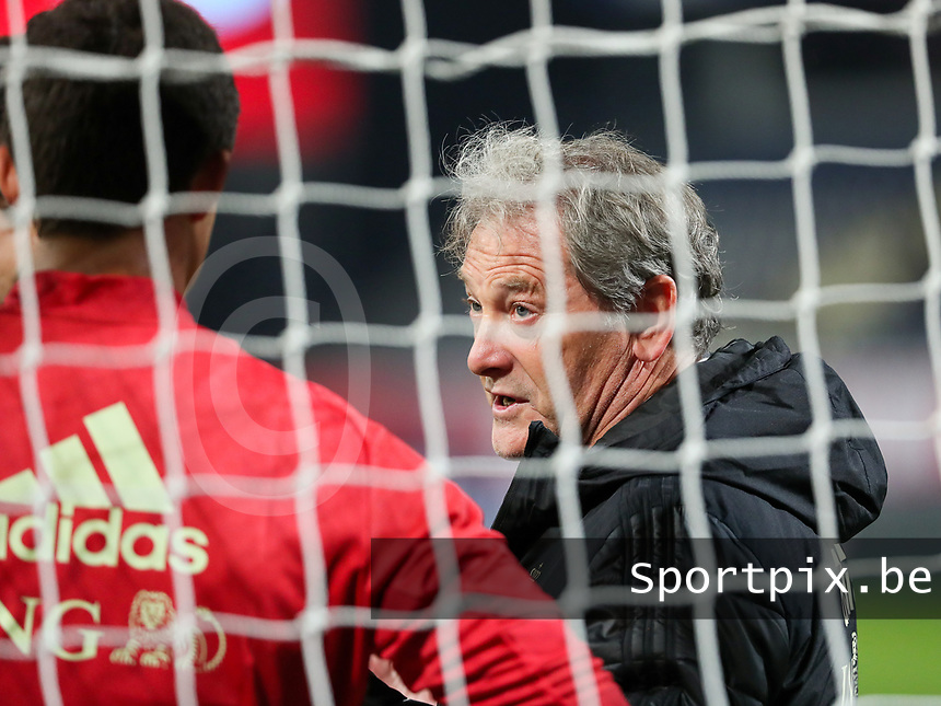Head coach Jacky Mathijssen of Belgium before a soccer game between the national teams Under21 Youth teams of Belgium and Kazakhstan on the third matday in group I for the qualification for the Under 21 EURO 2023 , on friday 8 th of october 2021  in Leuven , Belgium . PHOTO SPORTPIX | SEVIL OKTEM