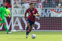 KANSAS CITY, KS - JULY 18: Miles Robinson #12 of the United States during a game between Canada and USMNT at Children's Mercy Park on July 18, 2021 in Kansas City, Kansas.