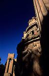 Palace of Fine Art, pillars, ornate carvings, Marina District, San Francisco, California USA