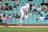 7th January 2021; Sydney Cricket Ground, Sydney, New South Wales, Australia; International Test Cricket, Third Test Day One, Australia versus India; Mohammed Siraj of India bowls