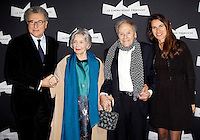 SERGE TOUBIANA, EMMANUELLE RIVA, JEAN-LOUIS TRINTIGNANT ET AURELIE FILIPPETTI - AVANT-PREMIERE DU FILM 'AMOUR' ET HOMMAGE A JEAN-LOUIS TRINTIGNANT, A LA CINEMATHEQUE FRANCAISE.