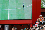 Stoke City 1 West Bromwich Albion 1, 24/09/2016. Bet365 Stadium, Premier League. A Stoke fan watching by the big screen. Photo by Paul Thompson.