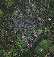 aerial photo map of Princeton University, Princeton, Mercer County, New Jersey