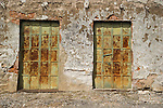 Iron doors, old walls, Hornitos, Calif.