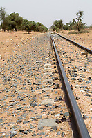 Senegal.  Dakar-Niger Railway, built in the early 1900s, linking Dakar-Bamako.  Only occasional, intermittent service has been offered after 2003.  Passenger service stopped in 2009.