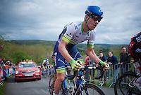 Simon Clarke (AUS/Orica-GreenEDGE) pedals up La Redoute (1650m/9.7%)<br /> <br /> 101th Liège-Bastogne-Liège 2015