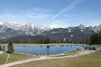 Bergsee nahe der Rosshütte - Seefeld 26.05.2021: Trainingslager der Deutschen Nationalmannschaft zur EM-Vorbereitung