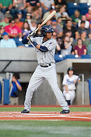 Rod Boykin (1) of the Tri-City Dust Devils at bat during a game against the Hillsboro Hops at Ron Tonkin Field in Hillsboro, Oregon on August 24, 2015.  Tri-City defeated Hillsboro 5-1. (Ronnie Allen/Four Seam Images)