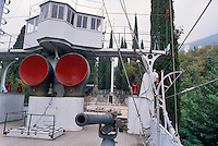 """- memorial museum of Gabriele D'Annunzio poet """"the Vittoriale"""", hull of the first World War warship Puglia ....- museo memoriale del poeta Gabriele D'Annunzio """"Il Vittoriale"""", scafo della nave da guerra Puglia della prima Guerra Mondiale"""