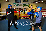 The Tralee Boxing Club are actively seeking new female members. L to r: Katie Dowling, coach Liam McGrath and Nora Scanlon