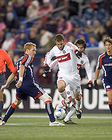 Substitute Chicago Fire defender Daniel Woolard (24) dribbles. The New England Revolution tied the Chicago Fire, 0-0, at Gillette Stadium on October 17, 2009.