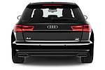 Straight rear view of a 2018 Audi A6 Avant S Line Select Doors Door Wagon stock images