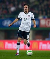 VIENNA, Austria - November 19, 2013: Sacha Kljestan during a 0-1 loss to host Austria during the international friendly match between Austria and the USA at Ernst-Happel-Stadium.
