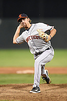 Connecticut Tigers pitcher Gage Smith (26) delivers a pitch during a game against the Batavia Muckdogs on July 21, 2014 at Dwyer Stadium in Batavia, New York.  Connecticut defeated Batavia 12-3.  (Mike Janes/Four Seam Images)