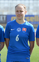 20180307 - LARNACA , CYPRUS :  Slovakian Valentina Susolova pictured during a women's soccer game between  Slovakia and the Czech Republic , on Wednesday 7 March 2018 at the GSZ Stadium in Larnaca , Cyprus . This is the final game in a decision for 9 th or 10 th place of the Cyprus Womens Cup , a prestigious women soccer tournament as a preparation on the World Cup 2019 qualification duels. PHOTO SPORTPIX.BE   DAVID CATRY
