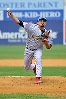 Ryan O'Sullivan (23) of the Reading Fightin Phils pitches during a game against the New Britain Rock Cats at New Britain Stadium on July 13, 2014 in New Britain, Connecticut.  Reading defeated New Britain 6-4.  (Gregory Vasil/Four Seam Images)