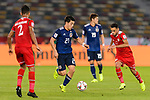 Doan Ritsu of Japan (L) is tackled by Ali Al Busaidi of Oman during the AFC Asian Cup UAE 2019 Group F match between Oman (OMA) and Japan (JPN) at Zayed Sports City Stadium on 13 January 2019 in Abu Dhabi, United Arab Emirates. Photo by Marcio Rodrigo Machado / Power Sport Images