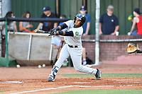 Pulaski Yankees right fielder Andy Diaz (72) swings at a pitch during a game against the Elizabethton Twins at Joe O'Brien Field on June 27, 2016 in Elizabethton, Tennessee. The Yankees defeated the Twins 6-4. (Tony Farlow/Four Seam Images)