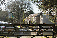 Pictured: The farm house where the family of Kiara Moore lives in the village of Coedybryn, west Wales, UK. Tuesday 20 March 2018<br /> Re: The funeral of two year old Kiara Moore, who died after being recovered from a silver Mini car found in river Teifi in Cardigan will be held today (Tue 27 Mar 2018) at Parc Gwyn Crematorium, Narberth, west Wales.<br /> Kiara was taken at the University Hospital of Wales in Cardiff after being rescued but was pronounced dead.<br /> It is believed the car she was in, rolled down a slipway while her mother got out momentarily to get cash out of the family business premises.<br /> Her parents Jet Moore and Kim Rowlands have expressed their grief on social media.