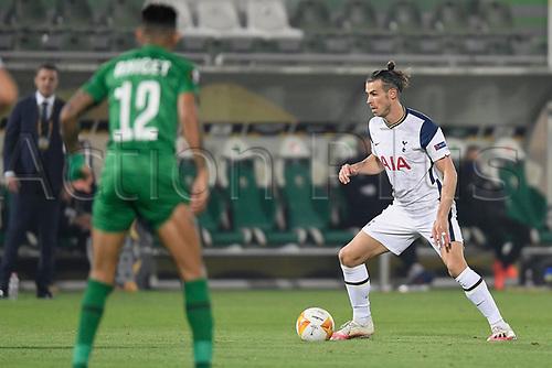 5th November 2020; RAZGRAD, BULGARIA; UEFA Europa League football, group stages;  Ludogorets Razgrad versus Tottenham Hotspur;  Gareth Bale of Tottenham breaks forward on the ball