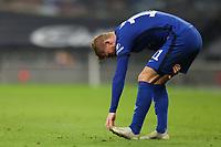 29th September 2020; Tottenham Hotspur Stadium, London, England; English Football League Cup, Carabao Cup, Tottenham Hotspur versus Chelsea; Timo Werner shows signs of cramp