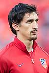 Stefan Savic of Atletico de Madrid prior to the 2016-17 UEFA Champions League Quarter-Finals 1st leg match between Atletico de Madrid and Leicester City at the Estadio Vicente Calderon on 12 April 2017 in Madrid, Spain. Photo by Diego Gonzalez Souto / Power Sport Images