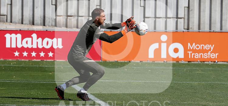 Atletico de Madrid's Jan Oblack during training session. October 1, 2020. (ALTERPHOTOS/Atletico de Madrid/Pool)