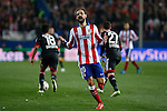 Atletico de Madrid´s Juanfran reacts  during the UEFA Champions League round of 16 second leg match between Atletico de Madrid and Bayer 04 Leverkusen at Vicente Calderon stadium in Madrid, Spain. March 17, 2015. (ALTERPHOTOS/Victor Blanco)
