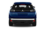 Straight rear view of 2021 Peugeot 3008 Allure 5 Door SUV Rear View  stock images