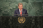 Address by His Excellency Sauli Niinistö, President of the Republic of Finland <br /> <br /> <br /> General Assembly Seventy-first session 10th plenary meeting<br /> General Debate