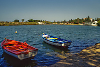 Carthage, Tunisia.  Punic Ports, now resembling small lakes bordered by luxurious homes, date from the 4th. Century B.C.  This was the naval, or military, port.  A commercial port is adjacent.