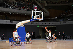 Members of Japan's national wheelchair basketball team gives a demonstration during the Grand Opening Ceremony of Ariake Arena on February 2, 2020, Tokyo, Japan. The new sporting and cultural centre will host the volleyball and wheelchair basketball competitions during the Tokyo 2020 Olympic Games. (Photo by Rodrigo Reyes Marin/AFLO)