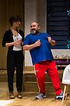 "Maribel Verdu and Jorge Calvo during theater play of ""Invencible"" at Teatros del Canal in Madrid. October 27, Spain. 2016. (ALTERPHOTOS/BorjaB.Hojas)"