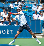 Novak Djokovic of Serbia at the Western & Southern Open in Mason, OH on August 18, 2012.