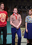 """Ward Horton, Jack DiFalco and Roxanna Hope Radja  during the Broadway Opening Night Curtain Call for """"Torch Song"""" at the Hayes Theater on November 1, 2018 in New York City."""