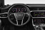 Car pictures of steering wheel view of a 2019 Audi A6 Design 4 Door Sedan