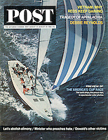 Saturday Evening Post, August 22, 1964. America's Cup Race Cover. Photo by John G. Zimmerman.
