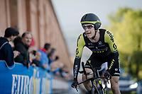 Brent Bookwalter (USA/Mitchelton-Scott) up the San Luca climb<br /> <br /> Stage 1 (ITT): Bologna to Bologna/San Luca (8.2km)<br /> 102nd Giro d'Italia 2019<br /> <br /> ©kramon
