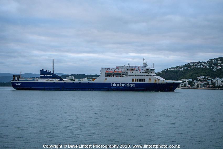 Bluebridge ferry.  CentrePort in Wellington, New Zealand on Wednesday, 18 March 2020. Photo: Dave Lintott / lintottphoto.co.nz