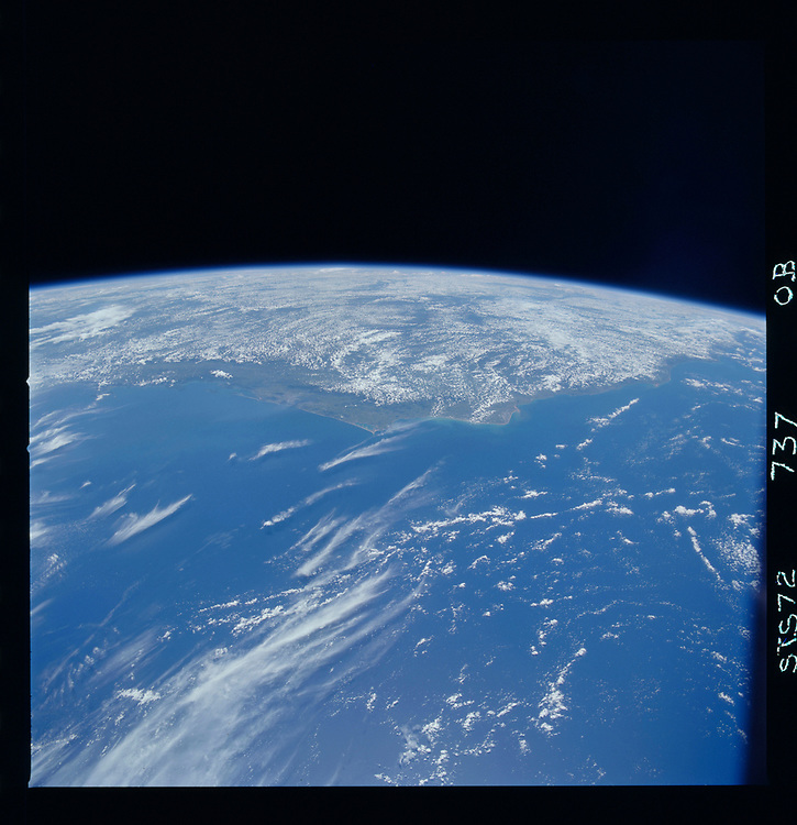 John Angerson. STS-72 Book.<br /> Public Domain Image.<br /> NASA images Courtesy National Archives - Record Group number: 255-STS-STS072<br /> Description: Earth observations taken from shuttle orbiter Endeavour during STS-72 mission.<br /> <br /> Subject Terms: STS-72, ENDEAVOUR (ORBITER), EARTH OBSERVATIONS (FROM SPACE), EARTH LIMB<br /> <br /> Date Taken: 2/15/1996<br /> <br /> Categories: Earth Observations<br /> <br /> Interior_Exterior: Exterior<br /> <br /> Ground_Orbit: On-orbit<br /> <br /> Original: Film - 70MM CT<br /> <br /> Preservation File Format: TIFF