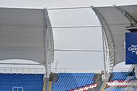 CALI - COLOMBIA, 03-03-2021: Atlético F.C. y Tigres F.C. en partido por la fecha 9 del Torneo BetPlay DIMAYOR I 2021 jugado en el estadio Pascual Guerrero de la ciudad de Cali. / Atletico F.C. and Tigres F.C. in match for the date 9 as part of BetPlay DIMAYOR Tournament I 2021 played at Pascual Guerrero stadium in Cali. Photo: VizzorImage / Gabriel Aponte / Staff