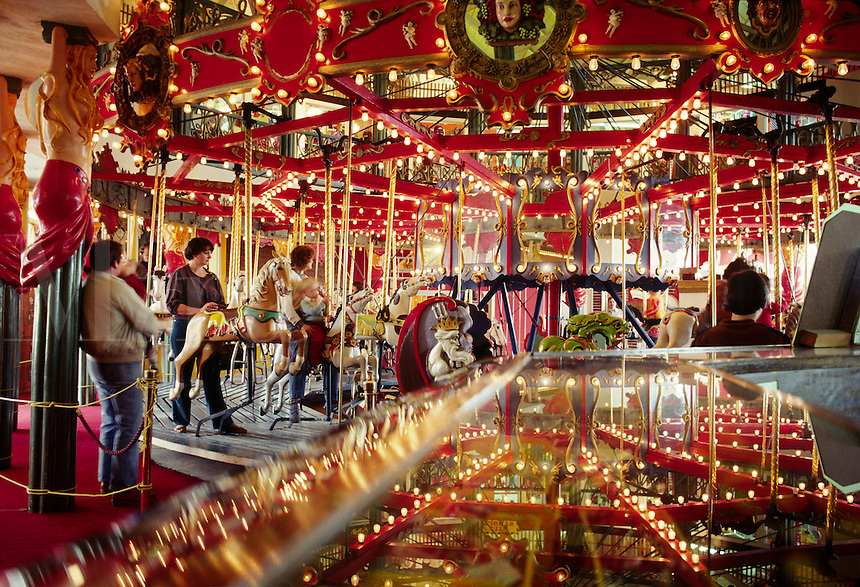 CANNERY ROW'S famous CAROUSEL - MONTEREY, CALIFORNIA